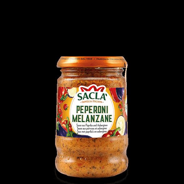 Pastasauce aus Paprika und Auberginen