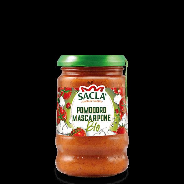 Bio-Pastasauce aus Tomaten und Mascarpone Käse