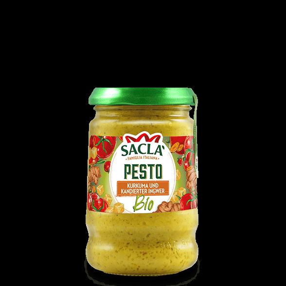 Bio-Pesto aus Kurkuma und kandiertem Ingwer